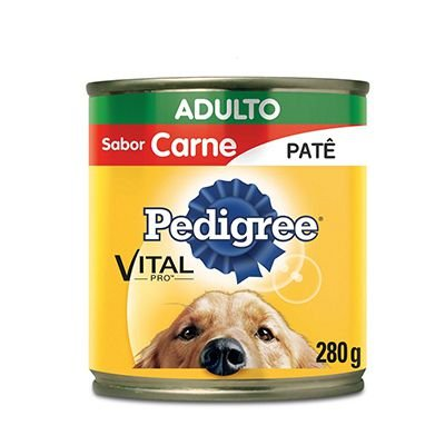 Pedigree Lata Patê Carne Cão Adulto 280g
