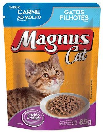 Magnus Sachê Cat Filhotes Carne 85 Gr