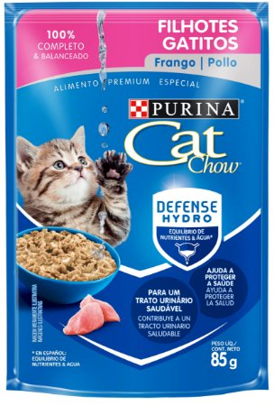 Cat Chow Sachê Filhotes Frango 85 Gr