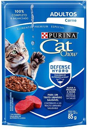 Cat Chow Sachê Adultos Carne 85 Gr