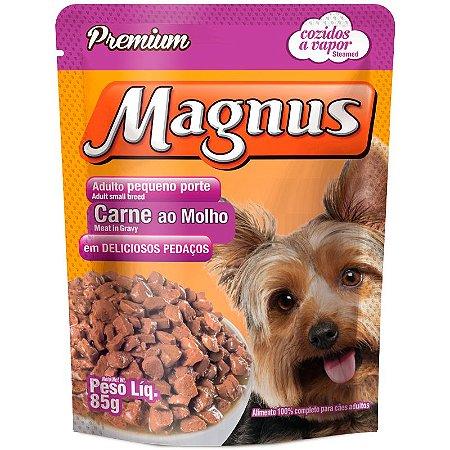 Magnus Sachê Cães Adultos Pequeno Porte Carne 85 Gr