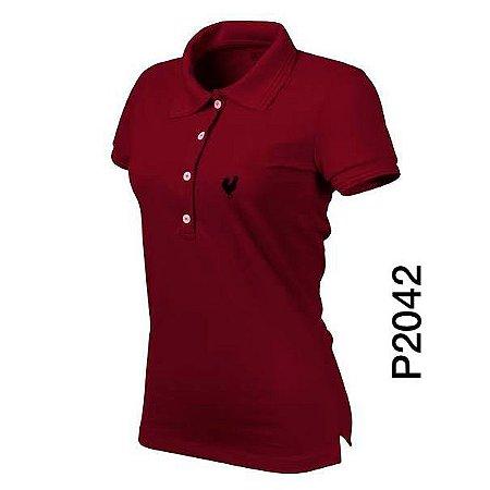 Polo Feminina Vermelha P2042 - Made In Mato