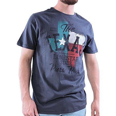 Camiseta Masc Pura Raça Rodeio Marinho