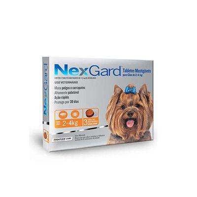 Nexgard 3 Tabletes Caes 02 Á 04 kg 0,5 G