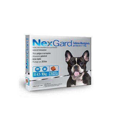 Nexgard 3 Tabletes Caes 04,1 A 10 kg 1,25 G