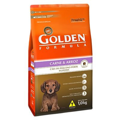 Golden Fórmula Cães Filhotes Mini Bits Carne e Arroz