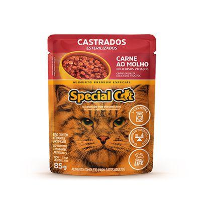 Special Cat Sachê Castrado Carne 85gr