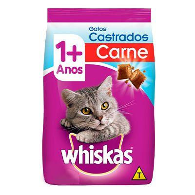 Whiskas Gatos Castrados Carne