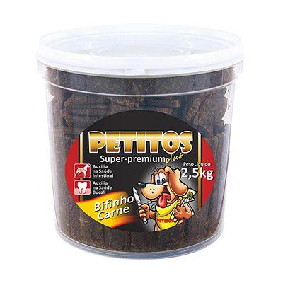 Bifinho Petitos Balde Carne 2,5 Kg