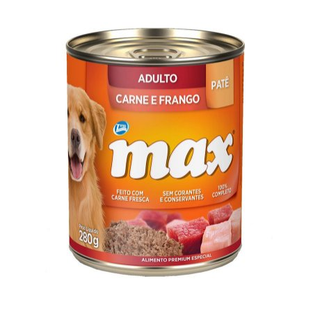 Max Caes Wet Adulto Carne/Frango 280 gr