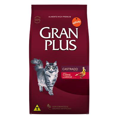 Granplus Gato Castrado Carne e Arroz 10,1 Kg  (Embalagens Individualizadas)