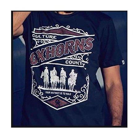 Camiseta Estampada Preta Ref. 1210 - Ox Horns