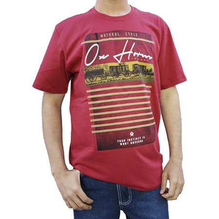 Camiseta Estampada Vermelha Ref. 1228 - Ox Horns