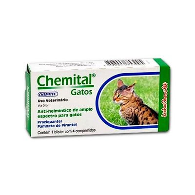 Chemital Gatos Caixa C/ 4 Comprimidos