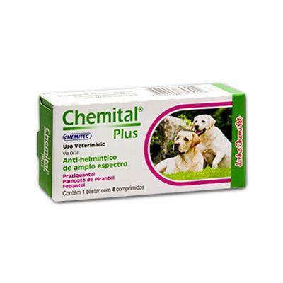 Chemital Plus Caixa C/ 4 Comprimidos