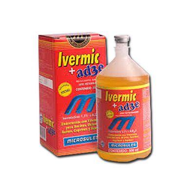 Ivermic Ivermectina 1% + Ade  Solução 50 ML