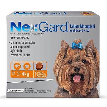 Nexgard Cães de 02 Á 04 Kg 11,3 MG