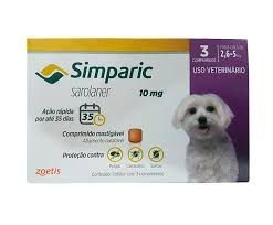 Simparic 3 Comp 10 MG (2,5 Kg - 5,0 Kg)