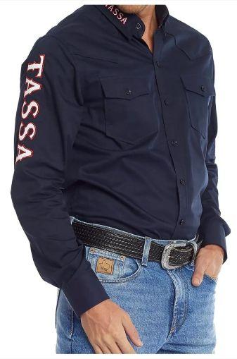 Camisa Masculina Manga Longa Tassa Mar/Verm Regular Ref. 272cm0 - V19