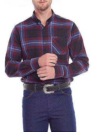 Camisa Masculina Manga Longa Tassa Az/Verm Regular Ref. 4079cm0 - V1