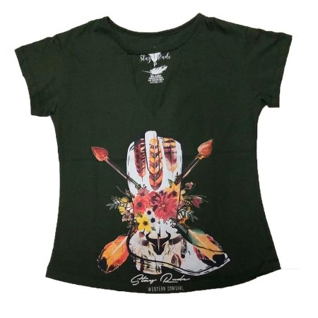 T-Shirt Fem Gola V Mod. 007 - Stayrude
