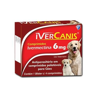 Ivercanis  6 Mg  (4 Comprimidos Caixa)