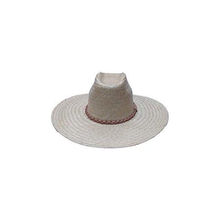 Chapéu de Palha Ref. 91300 Couro só Frente - Formado
