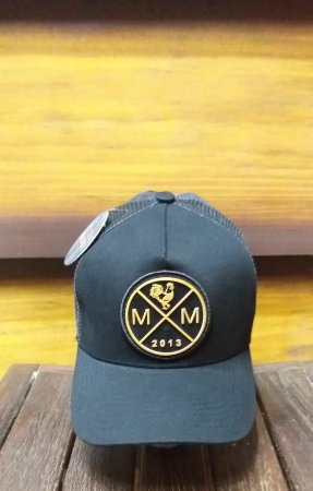 BONÉ TRUCKER MM BLACK IN GOLD B1877 - MADE IN MATO