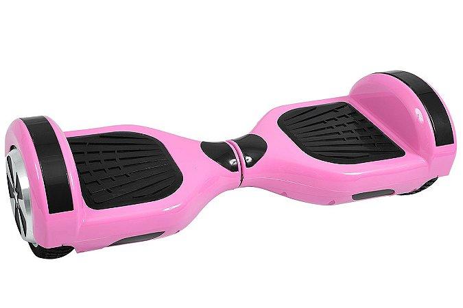 Hoverboard Smart Balance Aro 6,5 Rosa com Leds e Bluetooth
