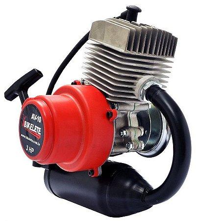 Kit Motor 75cc 4 Palhetas Original Escapamento Garrafinha