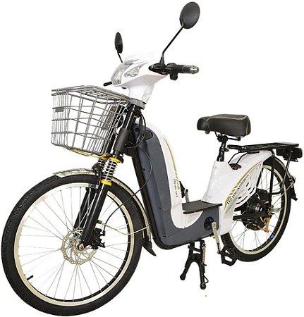 Bicicleta Elétrica 350w 48v/14A Aro 24 - Branco
