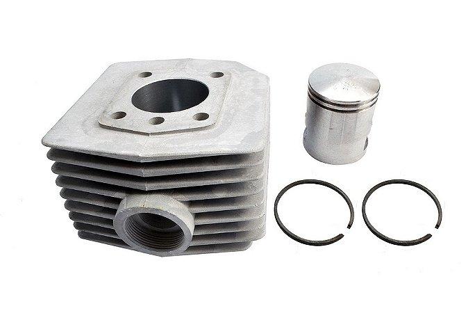 Kit Cilindro 60cc Com Pistão E Anéis Mobilete Bikelete