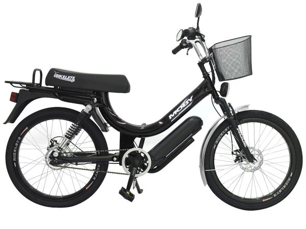 Bicicleta Elétrica mobilete moby 350w aro 24 bikelete - Preto