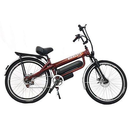 Bicicleta Bikelete Elétrica 350w Bateria De Lítio 12Ah - Vermelho