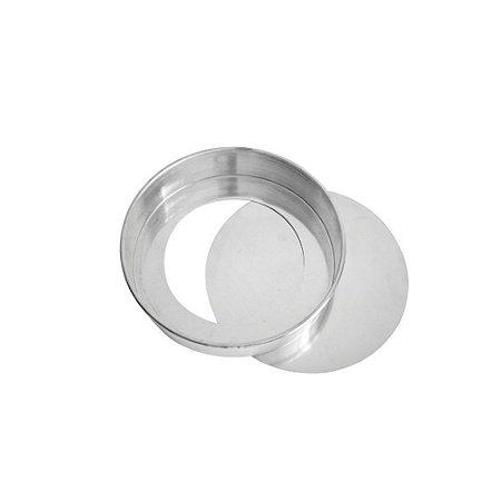 Forma Redonda Fundo Falso 15 x 7 Cm Aluminio 0672 Gallizzi
