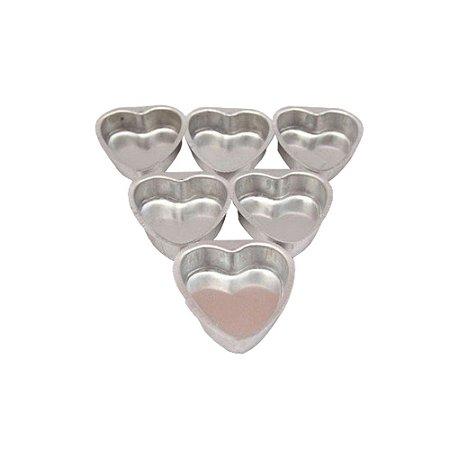 Forma Pao Mel Coracao P 6,5 Cm Aluminio Duzia 0815 Gallizzi