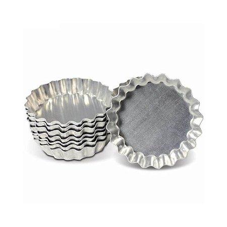 Forma Torta Maça Ondulada Aluminio Fundo Fixo N. 09 0869 Gallizzi