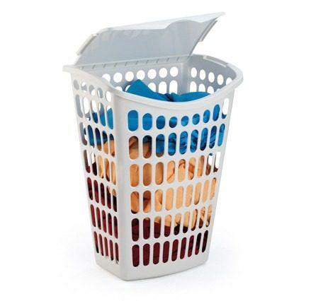 cesto branco telado basculante plastico 40 litros 1062 injeplastec