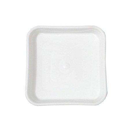 Prato Vaso Flor Plastico Quadrado Marmore Medio 1000 Injeplastec