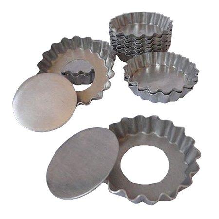 Torta Ondulada Aluminio 9 Cm Fundo Falso Duzia 0863 Gallizzi
