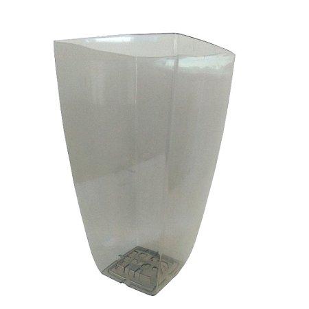 Vaso Elegance Acrilico Cristal Fume Grande 0369 Injeplastec