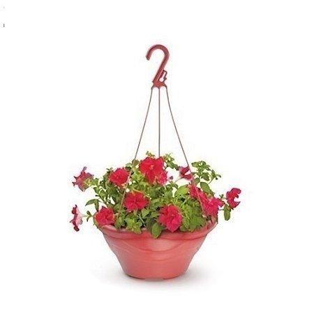 Vaso Plastico Flor Pendurar Redondo Telha 0442 Injeplastec
