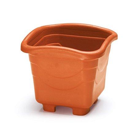 Vaso Plastico Quadrado Pequeno Telha 2 Litros 0971 Injeplastec