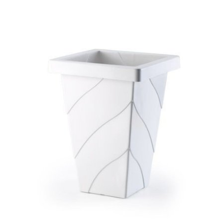 Vaso Plastico Roma Quadrado Grande Marmore 1127 Injeplastec