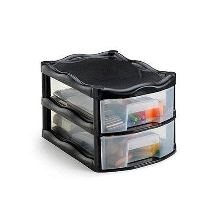 Gaveteiro Organizador 2 Gaveta Plastico Grande 1023 Injeplastec