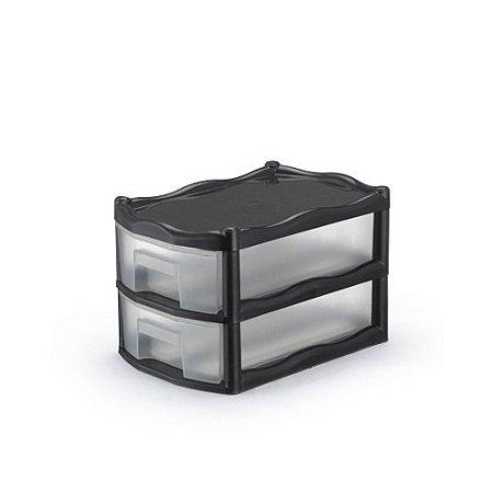 Gaveteiro Organizador 2 Gavetas Plastico Modular Medio 1030 Injeplastec