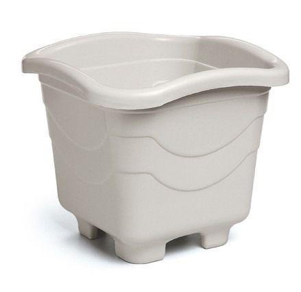 kit 6 vaso plastico quadrado grande marmore 10 litros 0959 injeplastec