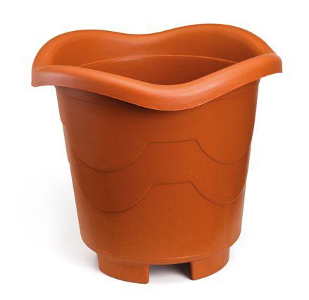 kit 6 vaso plastico redondo extra grande telha 0462 injeplastec