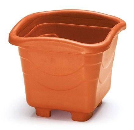 kit 6 vaso plastico quadrado grande telha 0958 injeplastec
