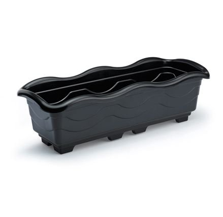 kit 6 jardineira grande preto plastica 50 x 19 x 15 1125 injeplastec
